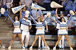 05 January 2014: UNC ceerleaders. The University of North Carolina Tar Heels played the University of Maryland Terrapins in an NCAA Division I women's basketball game at Carmichael Arena in Chapel Hill, North Carolina. Maryland won the game 79-70.