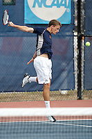 SAN ANTONIO, TX - FEBRUARY 9, 2008: The Laredo Community College Palominos vs. The University of Texas at San Antonio Roadrunners Men's Tennis at the UTSA Tennis Center. (Photo by Jeff Huehn)