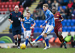 St Johnstone v Motherwell&hellip;20.02.16   SPFL   McDiarmid Park, Perth<br />David Wotherspoon<br />Picture by Graeme Hart.<br />Copyright Perthshire Picture Agency<br />Tel: 01738 623350  Mobile: 07990 594431