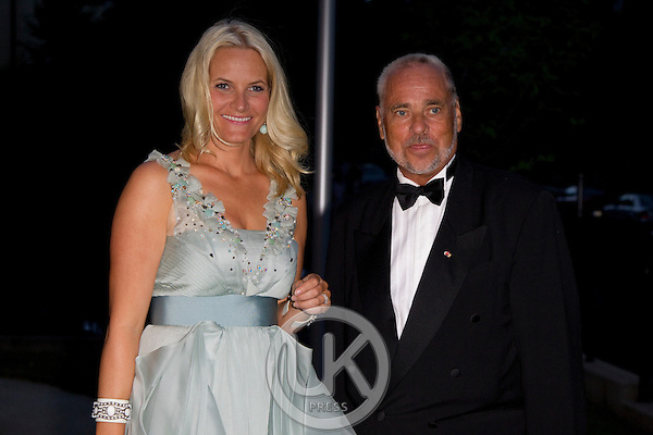 Crown Princess Mette Marit of Norway on a three day visit to Vienna to attend the 18th International UNAIDS Conference..Arrives at The Norwegian Ambassadors residence in Vienna