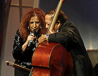 Albita Rodriguez and Cachao performs together at Casandra Awards 2008 in Santo Domingo. Dominican Republic