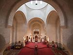 Interior and ceiling of the Church of St. Simeon the Myrrh-Gushing, Novi Beograd, Serbia