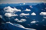Aerial over Alaska Range, Alaska