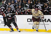 Dax Lauwers (NU - 44), Steven Whitney (BC - 21) - The Boston College Eagles defeated the Northeastern University Huskies 6-3 on Monday, February 11, 2013, at TD Garden in Boston, Massachusetts.