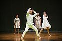 London, UK. 10.04.2013. Fabulous Beast Dance Theatre presents PETRUSHKA at Sadler's Wells. Picture shows: Saku Koistinen, Rachel Poirier (front), Anna Kaszuba and Innpang Ooi (back). Photograph © Jane Hobson.