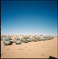 Bahai, Chad, Dec.11 2004..More than 2500 km from Benghazi and the Mediterranean sea, and already 800 km inside Chad, the convoy finaly reaches the first police post in Bahai, it will take about 3 days to clear the Kafka-esque Chadian administrative procedure...
