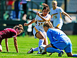 19 September 2010: University of Vermont Catamount forward Nicoleta Hardesty, a Sophomore from Dobbs Ferry, NY, in action against the Colgate University Raiders, at Centennial Field in Burlington, Vermont. The Raiders scored a pair of second half goals two minutes apart to notch a 2-0 victory over the Lady Cats in non-conference women's soccer play. Mandatory Credit: Ed Wolfstein Photo