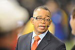 ESPN's Stuart Scott at New Orleans Saints vs. New York Giants at the Superdome in New Orleans, La. on Monday, November 28, 2011. New Orleans won 49-24.
