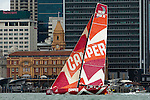 CAMPER with Emirates Team New Zealand leads from start to finish. In Port Race. Auckland stopover. Volvo Ocean Race 2011 - 12. 17/3/2012