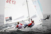20120605, Weymouth, England: SKANDIA SAIL FOR GOLD 2012 - The waters of Weymouth Bay and Portland Harbour will be filled with the stars of sailing over the next couple of weeks as the team?s training camps at the 2012 Olympic venue turn serious with the final pre-event - Skandia Sail for Gold. The 523 entries from 59 nations features 723 athletes and 249 coaches. PHOTO: Mick Anderson/SAILINGPIX.DK