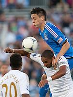 Santa Clara, California - Saturday July 31, 2012: Swansea City AFC vs San Jose Earthquakes at Buck Shaw Stadium, Stanford, Ca    San Jose Earthquakes and Swansea City AFC tied 2 - 2