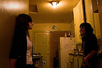 Los Angeles, Calif., Dec. 16, 2008 - Ramona Gonzalez (L) and Emily Jane of the band Nite Jewel in Ms. Jane's home in the Echo Park section of Los Angeles.