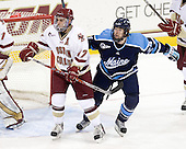 Brian Gibbons (BC - 17), Mark Anthoine (Maine - 24) - The Boston College Eagles defeated the visiting University of Maine Black Bears 4-1 on Sunday, November 21, 2010, at Conte Forum in Chestnut Hill, Massachusetts.