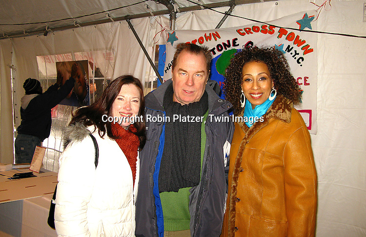 Annette O'Toole and husband Michael McKean and Tamara Tunie.at The Miracle on Madison Avenue event on December 2, 2007 on Madison benefitting The Children's Aid Society in New York City. .Robin Platzer, Twin Images..212-935-0770