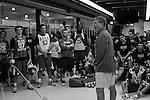 2013 May 23: Head coach John Danowski speaks to his team during a practice session at Maple Zone in Boothwyn, PA.