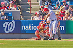 8 March 2013: Washington Nationals infielder Anthony Rendon at bat during a Spring Training game against the St. Louis Cardinals at Space Coast Stadium in Viera, Florida. The Cardinals defeated the Nationals 16-10 in Grapefruit League play. Mandatory Credit: Ed Wolfstein Photo *** RAW (NEF) Image File Available ***