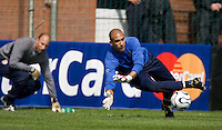 USA's Tim Howard during practice in Hamburg, Germany, for the 2006 World Cup, June, 9, 2006.