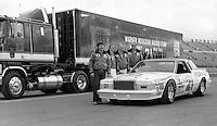 Neil Bonnett and the Wood Brothers before the Daytona 500, Daytona International Speedway, Daytona Beach, FL, February 14, 1982(Photo by Brian Cleary/www.bcpix.com)