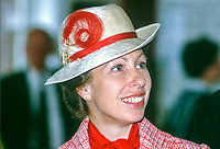 Princess Anne on a May 1985 visit to N Ireland is pictured at the official opening of an extension to Belfast Royal Academy's Preparatory Department at its Ben Madigan campus. 19850501c..Copyright Image from Victor Patterson, 54 Dorchester Park, Belfast, UK, BT9 6RJ..Tel: +44 28 9066 1296.Mob: +44 7802 353836.Voicemail +44 20 8816 7153.Skype: victorpattersonbelfast.Email: victorpatterson@me.com.Email: victorpatterson@ireland.com (back-up)..IMPORTANT: If you wish to use this image or any other of my images please go to www.victorpatterson.com and click on the Terms & Conditions. Then contact me by email or phone with the reference number(s) of the image(s) concerned.