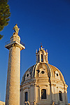 Trajan's Column in Rome near the Roman Forum