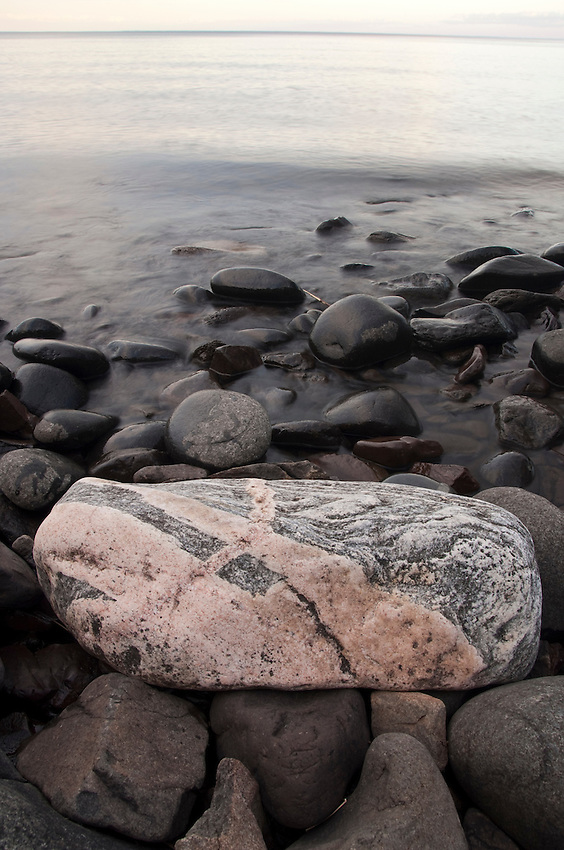 Lake Superior shoreline along Minnesota's Northshore near Duluth Minnesota.