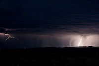 Lightning storm over the Bighorn Basin