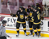 Trey Bradley (CC - 14), Nick Halloran (CC - 13), Mason Bergh (CC - 15) - The Boston College Eagles defeated the visiting Colorado College Tigers 4-1 on Friday, October 21, 2016, at Kelley Rink in Conte Forum in Chestnut Hill, Massachusetts.The Boston College Eagles defeated the visiting Colorado College Tiger 4-1 on Friday, October 21, 2016, at Kelley Rink in Conte Forum in Chestnut Hill, Massachusett.