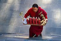 Buddhist monk from Thiksey.  Ladakh region of Jammu Kashmir, India.
