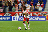 Harrison, NJ - Wednesday Aug. 03, 2016: Kemar Lawrence during a CONCACAF Champions League match between the New York Red Bulls and Antigua at Red Bull Arena.