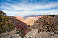 The Abyss overlook at the South rim of Grand Canyon
