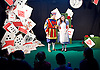 Southbank Centre's Imagine Children's Festival <br /> at the Royal Festival Hall, Southbank, London, Great Britain <br /> 13th February 2015 <br /> <br /> <br /> <br /> <br /> <br /> Children watch Alice's House of Cards <br /> with Evelyn Hoskins and Alice<br /> and Ben Ingles as Knave of Hearts <br /> <br /> <br /> Photograph by Elliott Franks <br /> Image licensed to Elliott Franks Photography Services