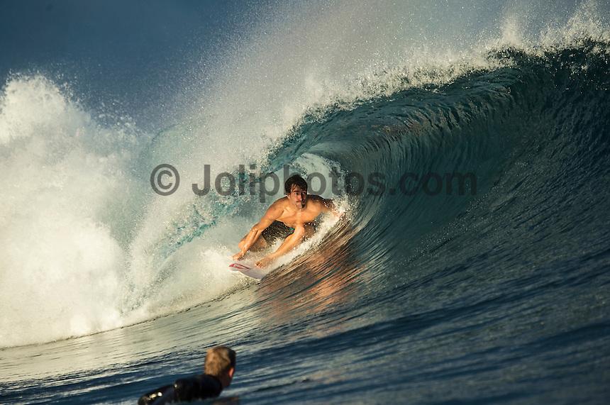 Namotu Island Resort, Namotu, Fiji. (Wednesday June 4, 2014) Aritz Aranburu (EUK) – Free surfing session went down this morning while organises debated a starting time for the Fiji Pro. Photo: joliphotos.com