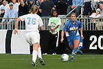 1 December 2006: UCLA's Kristina Larsen (20) and North Carolina's Ali Hawkins (76) challenge for the ball. The University of North Carolina Tarheels defeated the University of California Los Angeles Bruins 2-0 at SAS Stadium in Cary, North Carolina in an NCAA Division I Women's College Cup semifinal game.