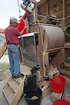 John Letts, Heritage  grains<br /> <br /> John has restored and  modernised an antique Winnowing machine built in the 1890.  This machine cleans the weeds  and dust out of the grain.