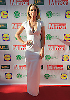 19/05/2015 <br /> Vogue Williams <br /> during the Irish mirror pride of Ireland awards at the mansion house, Dublin.<br /> Photo: gareth chaney Collins