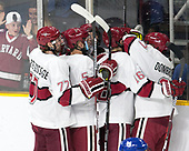 Lewis Zerter-Gossage (Harvard - 77), Clay Anderson (Harvard - 5), Alexander Kerfoot (Harvard - 14), Ryan Donato (Harvard - 16), Viktor Dombrovskiy (Harvard - 27) - The Harvard University Crimson defeated the Air Force Academy Falcons 3-2 in the NCAA East Regional final on Saturday, March 25, 2017, at the Dunkin' Donuts Center in Providence, Rhode Island.