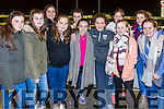Enjoying Tarbert GAA Night At Dogs at the Kingdom Greyhound Stadium on Friday were  Grainne Musgrave, Emily Culhane, Aina Jameson, Orla Wall, Katie Sheehy, Eleanor Lovett, Amy White, Eva McLouglin, Hazel Langhan, Ava Kelly, Ellen Egan