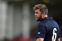 Ryan Wilson of Scotland looks on during a break in play. Rugby World Cup Pool B match between Scotland and Japan on September 23, 2015 at Kingsholm Stadium in Gloucester, England. Photo by: Patrick Khachfe / Onside Images