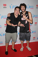 MIAMI BEACH , FL - JULY 23: Lil Dicky and DJ Mack pose during the I Heart Radio Y-100 Mackapoolooza Pool Party at The Fountainbleu on July 23, 2016 in Miami Beach, Florida. Credit: mpi04/MediaPunch