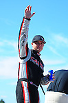 May 6, 2012; Commerce, GA, USA: NHRA top fuel dragster driver Steve Torrence during the Southern Nationals at Atlanta Dragway. Mandatory Credit: Mark J. Rebilas-