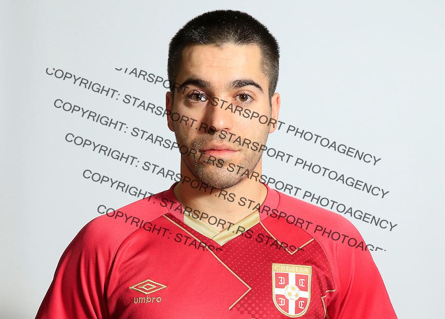 Futsal<br /> Portreti igraca Futsal nacionalne selekcije Srbije <br /> Mladen Kocic<br /> Stara Pazova, 26.11.2015.<br /> foto: Srdjan Stevanovic/Starsportphoto &copy;