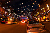 Larimer Square in Downtown Denver illuminated for the holiday season, Denver, Colorado USA