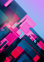 Abstract three dimensional geometric tilted structure