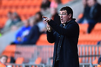 Blackpool manager Gary Bowyer issues instructions<br /> <br /> Photographer Richard Martin-Roberts/CameraSport<br /> <br /> The EFL Sky Bet League Two Play-Off Semi Final First Leg - Blackpool v Luton Town - Sunday May 14th 2017 - Bloomfield Road - Blackpool<br /> <br /> World Copyright &copy; 2017 CameraSport. All rights reserved. 43 Linden Ave. Countesthorpe. Leicester. England. LE8 5PG - Tel: +44 (0) 116 277 4147 - admin@camerasport.com - www.camerasport.com