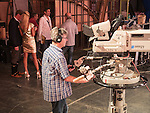 Zika show, a live TV variety show watched each Saturday morning by 25% of the Serbian people during it's production and broadcast  in Belgrade, Serbia<br /> <br /> TV studio cameras