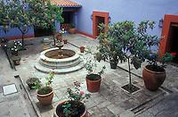 Courtyard of the Museo Casa de Juarez in the city of Oaxaca, Mexico