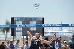 GULF SHORES, AL - MAY 07: Anika Wilson (14) of  Pepperdine University hits the ball against the University of Southern California during the Division I Women's Beach Volleyball Championship held at Gulf Place on May 7, 2017 in Gulf Shores, Alabama. The University of Southern California defeated Pepperdine 3-2 to claim the national championship. (Photo by Stephen Nowland/NCAA Photos via Getty Images)