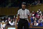 17 December 2014: Referee Carla Fountain. The Duke University Blue Devils hosted the University of Oklahoma Sooners at Cameron Indoor Stadium in Durham, North Carolina in a 2014-15 NCAA Division I Women's Basketball game. Duke won the game 92-72.