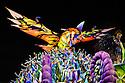 Float, platform on wheels with display, Samba Schools Parade, Rio de Janeiro carnival, Brazil - Unidos da Tijuca Samba School at 2011 parade, colorful and vibrant costumes, creative choreography.
