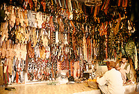 Gun sheath's in a Darra shop. Darra town in Pakistan clandestinely provides arms to more than eight Central Asian countries.